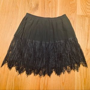 Forever 21 Black Lace Pleated Skirt